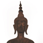 Seated Buddha on Indra - detail 1
