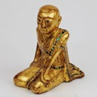 Red Lacquer Gold Gilt Buddhist Monk
